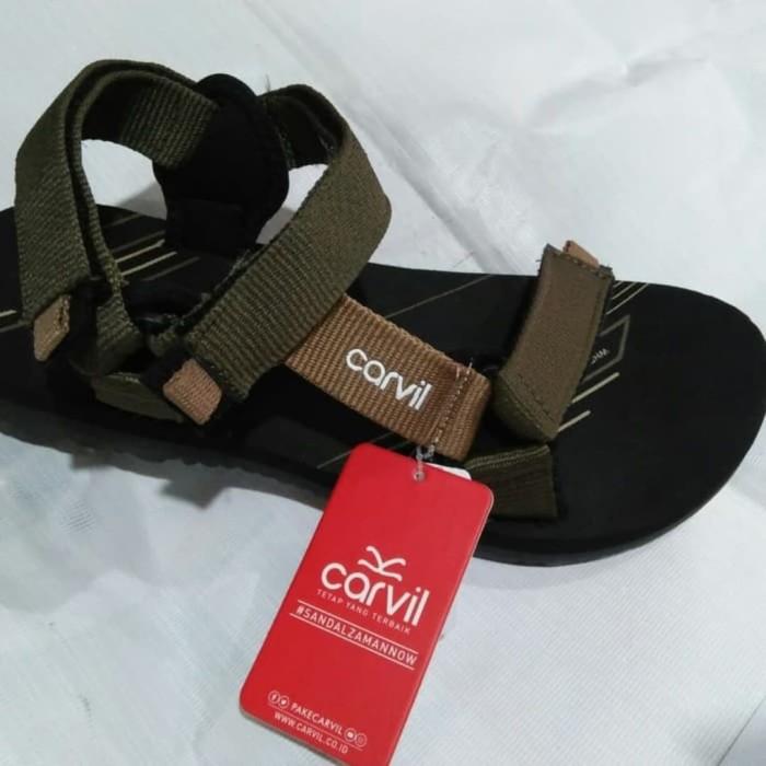 Foto Produk SENDAL GUNUNG SPONS MERK CARVIL ORIGINAL dari Ezalea Shoes