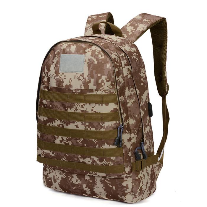 Foto Produk Freeknight Tas Ransel PUBG Backpack USB Port Army Military TCR08 - Gurun dari Freeknight