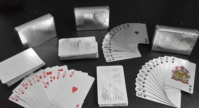 Jual Hot Sale Kartu Permainan Poker Remi Lapis Silver Kartu Plastik Lapis Jakarta Barat Madampathsathibal Tokopedia