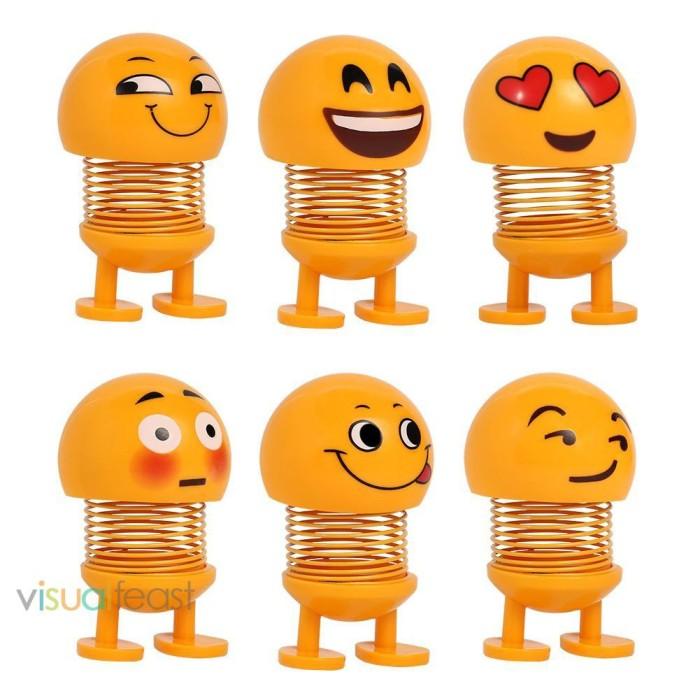Jual Unik Ornamen Mobil Bentuk Kartun Emoji Bahan Abs Dan Metal