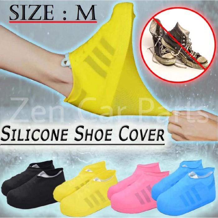 Foto Produk Cover Sepatu Karet M Anti Air sarung jas Waterproof Shoes silikon dari kudeta wire