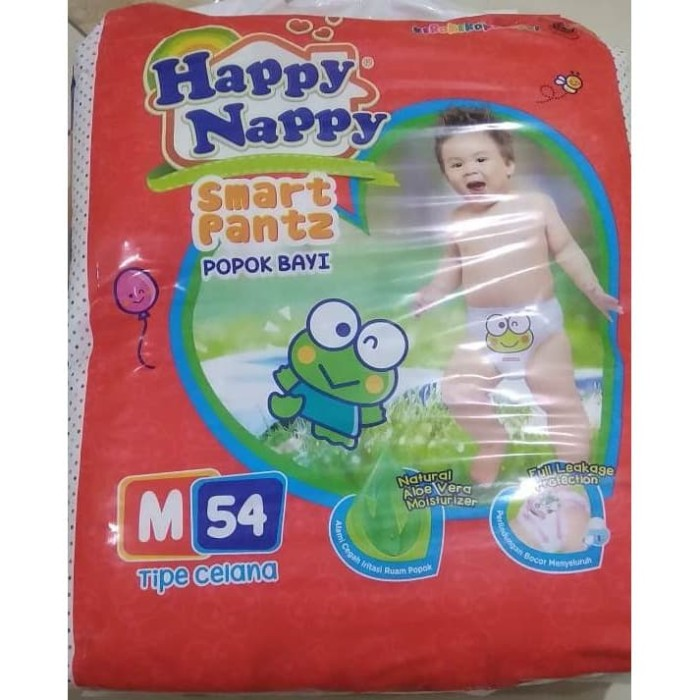 Foto Produk Popok Bayi Happy Nappy Smart Pants M-54 dari FAMAS-MART