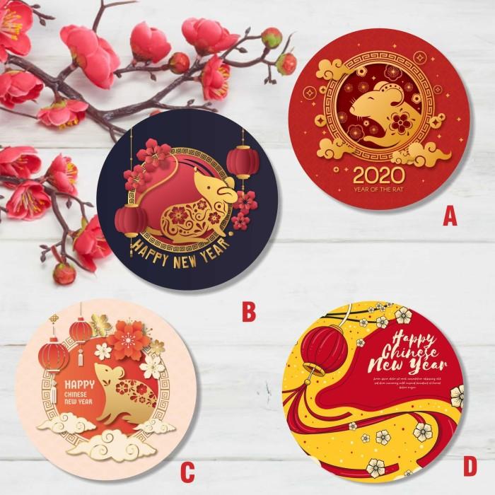 Jual Stiker Kartu Ucapan Label Untuk Hadiah Imlek Chinese New Year