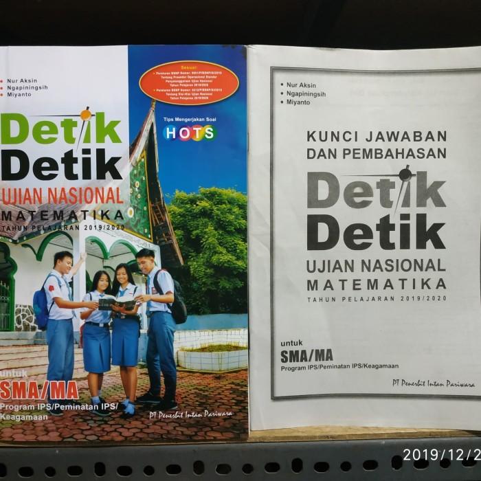 Jual Detik Detik Un Matematika Ips Sma 2020 Kunci Jawaban Intan Pariwara Kota Surakarta Ethes Bookstore Tokopedia