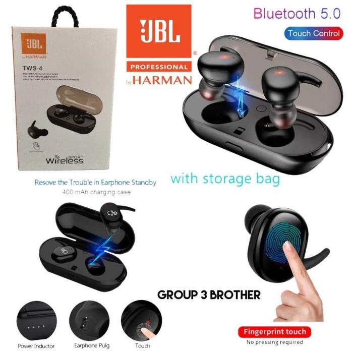 Jual Headset Bluetooth V5 0 Jbl Tws 4 Wireless Earbuds Stereo Jakarta Pusat Onebrother Store Tokopedia