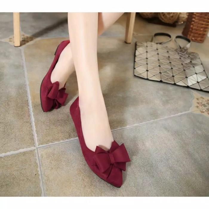 Foto Produk Reiv - Flat Shoes Pita Tumpuk 020 - Hitam, 37 dari Reiv_Shop