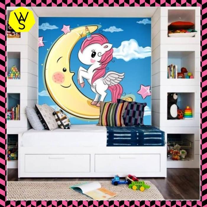 Jual Wallpaper Custom 3d Wallpaper Dinding Anak Little Pony Unicorn Jakarta Barat Weshope Ku Tokopedia