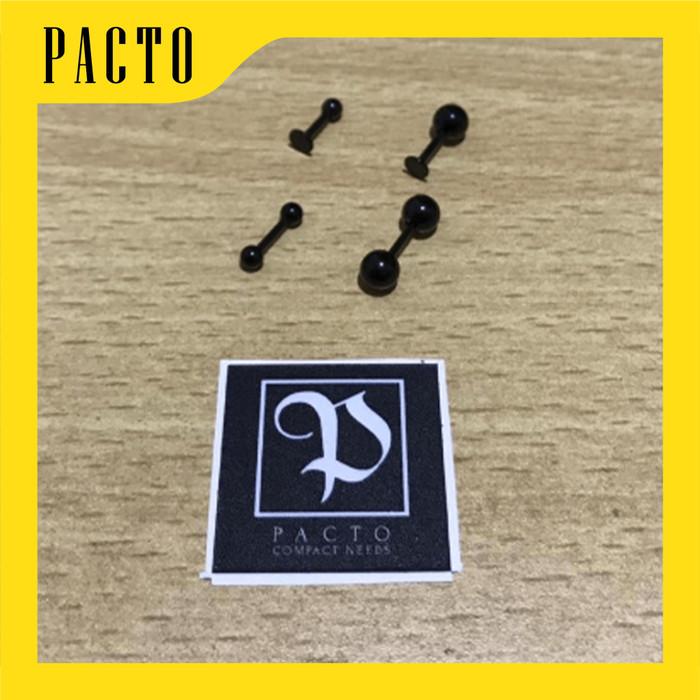Foto Produk ANTING PRIA / WANITA TUSUK BENTUK TULANG 2 PIECES HITAM 100% ORIGINAL - S dari Pacto
