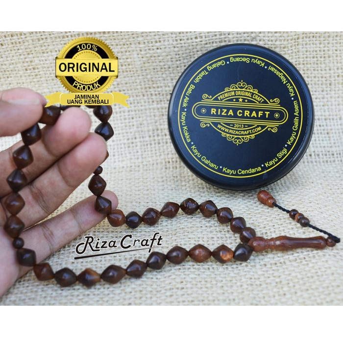 Foto Produk Tasbih Kayu Kokka Kaukah ASLI Turki Mekah Mesir Motif Wajik 33 Butir dari Riza Craft