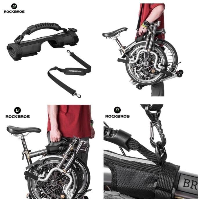 Foto Produk Rockbros Bike Carrier Hand Brompton Trifold 3sixty Elment Pikes dari Rockbros Bike