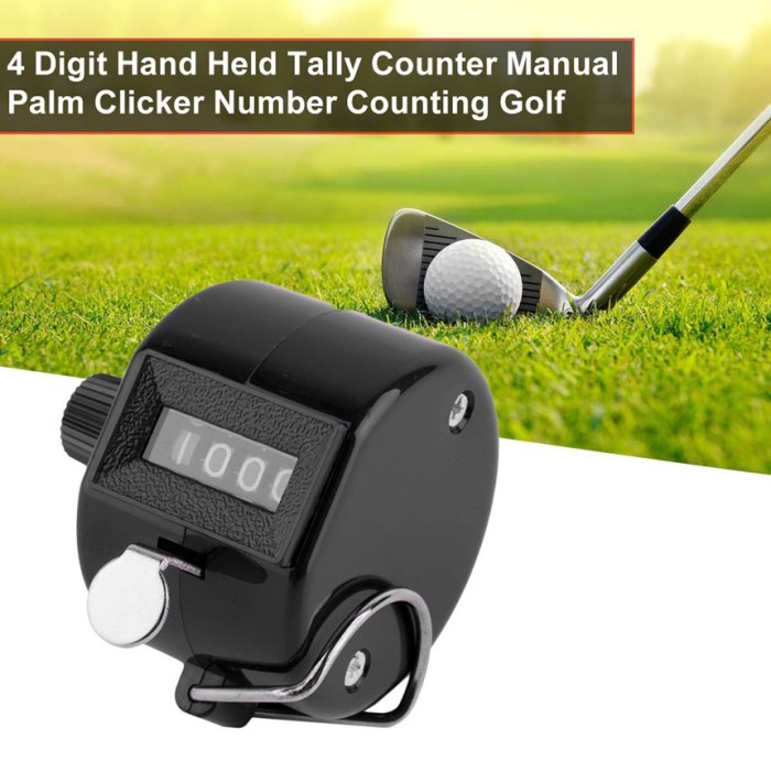 Finger Clip 4 Digit Hand Tally Counter Clicker for Sports and Hobbies Blue