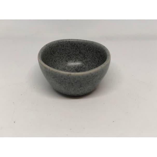 Foto Produk Mangkok Kecil Mini Cafe - Sauce Dish Stone Grey dari Sinar Sakti Online