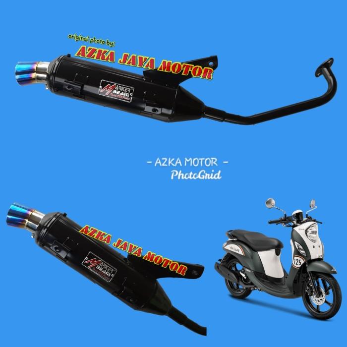 Foto Produk Knalpot Racing Bobokan Fino 125cc corong pelangi Marker Beam By CSR dari Azka Jaya Motor