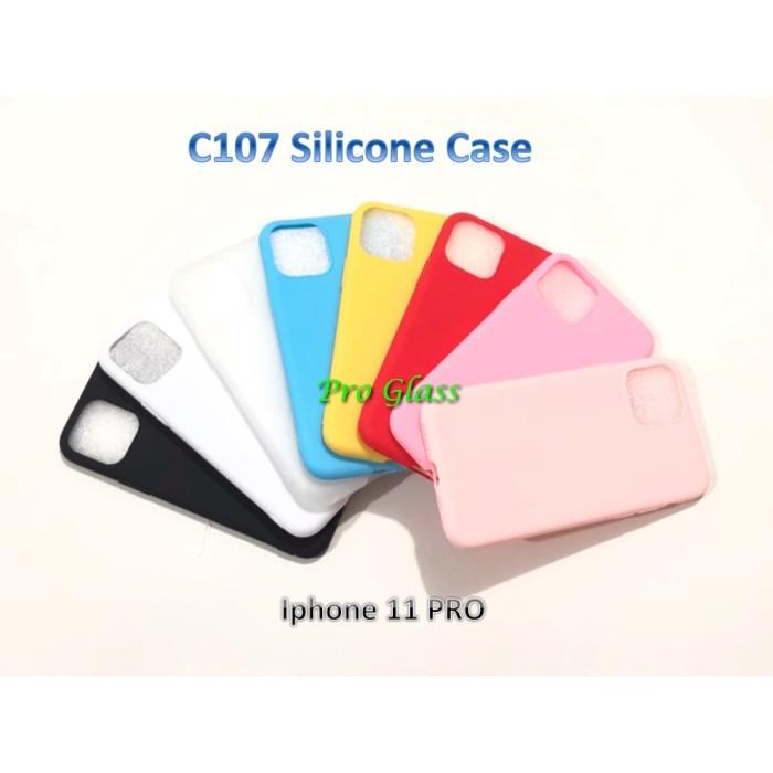 Foto Produk C107 Iphone 11 PRO Colourful Ultrathin Silicone Case / Matte Case dari Pro Glass