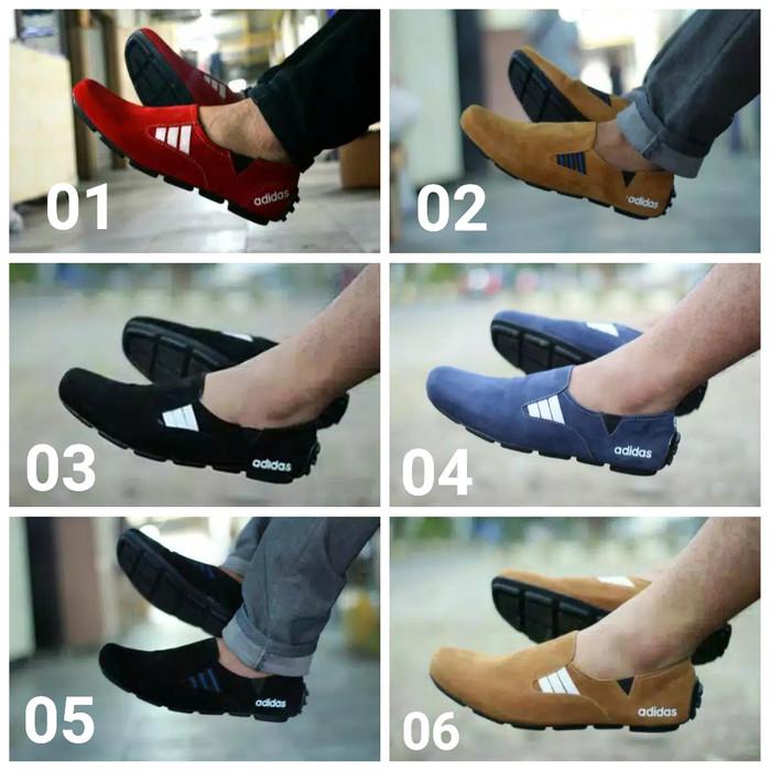 Foto Produk Sepatu Pria Slop Adidas Suarez Casual Slip On Murah Original Handmade - Hitam Putih, 39 dari D&G Store