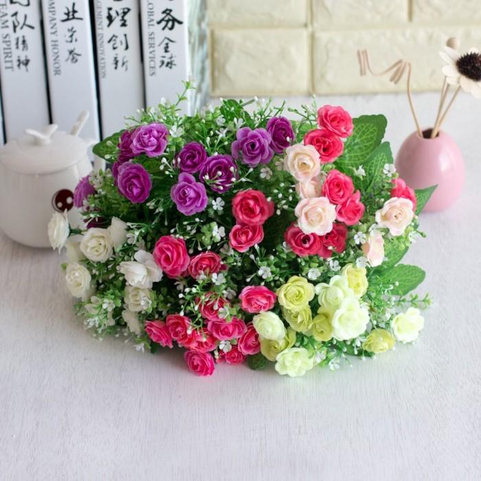 Jual Grosir Tctp 1 Pc Bunga Mawar Buatan Warna Warni Untuk Dekorasi Jakarta Selatan Maple Best Tokopedia