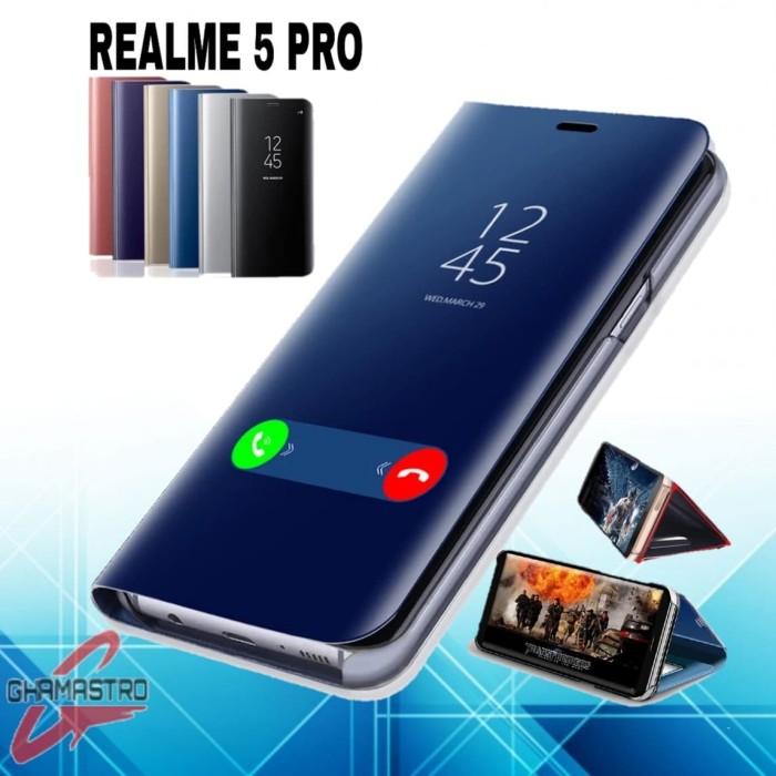 Foto Produk Case Realme 5 Pro Flip Clear View Standing Cover dari Ghamastro