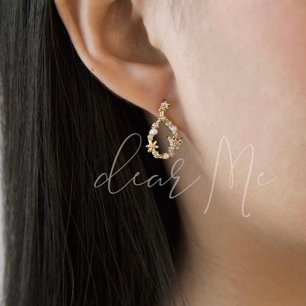 Foto Produk DearMe - ZOE Earrings (S925 with Crystals & 18K Gold Plating) dari DearMe