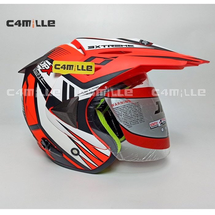 Jual HELM MDS SUPER PRO SOLID RED FLUO SUPERMOTO STYLE