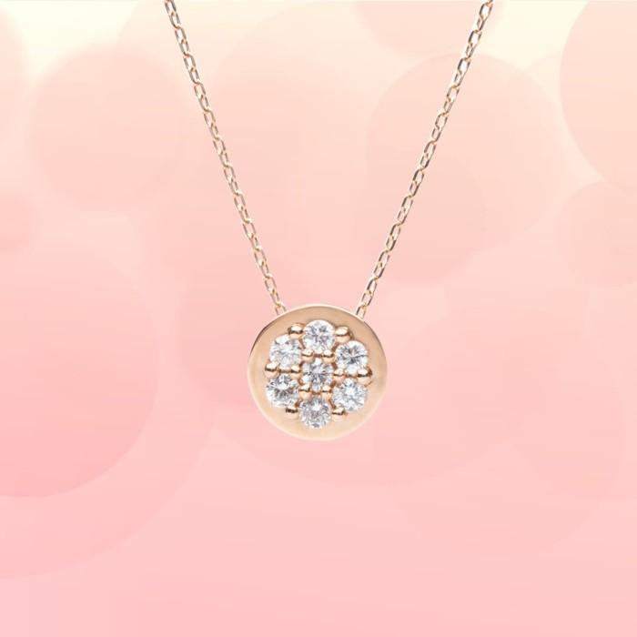 Jual Alexandra Exclusive Rose Gold Necklace Round Jakarta Utara Blingbling Jewellery Tokopedia