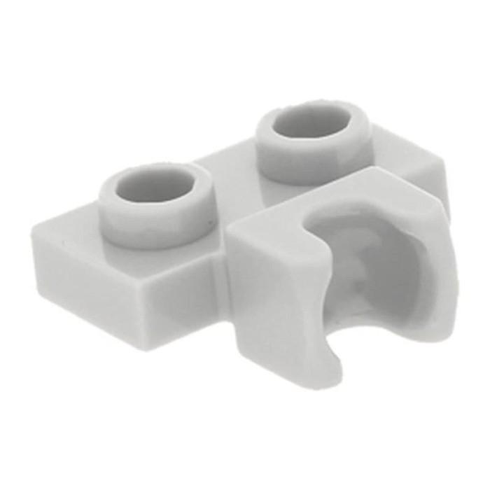 6 x lego 14704 Plate Ball Grey, Grey Flat 1x2 Towball Socket New New