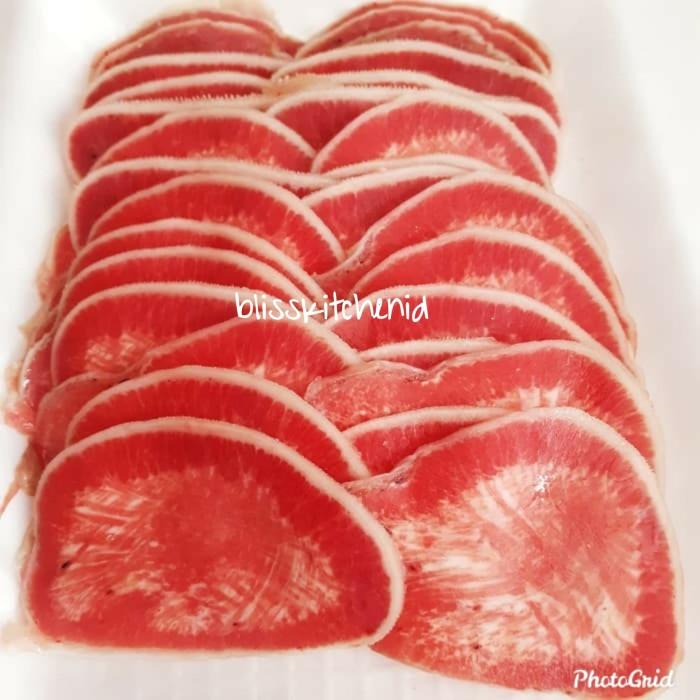 Foto Produk Daging Lidah Sapi Slice AUS Impor / Ox Tongue Sliced / Gyutan 250gr dari Bliss Kitchen Jakarta