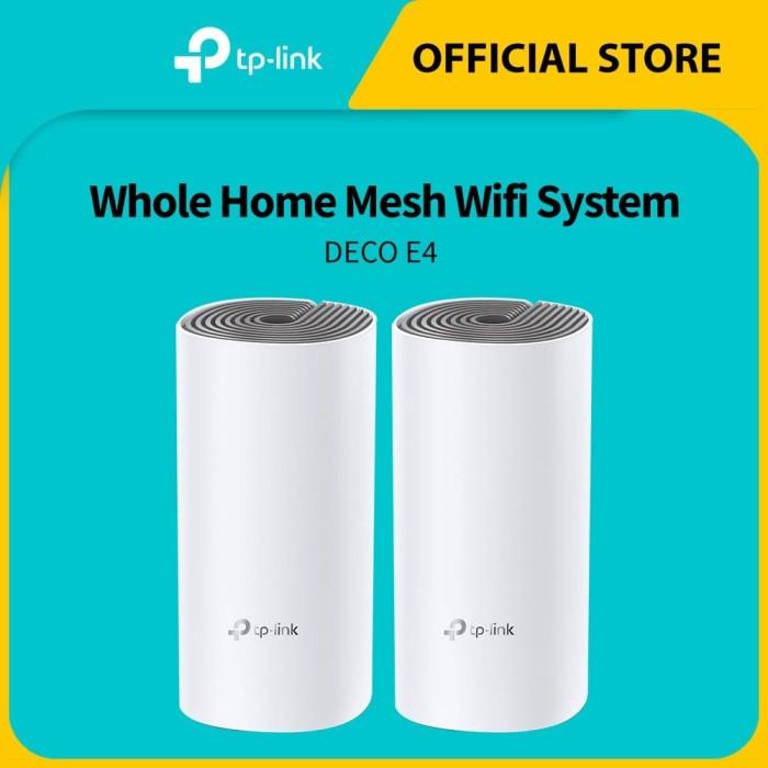 Foto Produk ORIGINAL Tplink Deco E4 (2pcs / pack) Whole Home Mesh Wifi System dari TP-Link Official