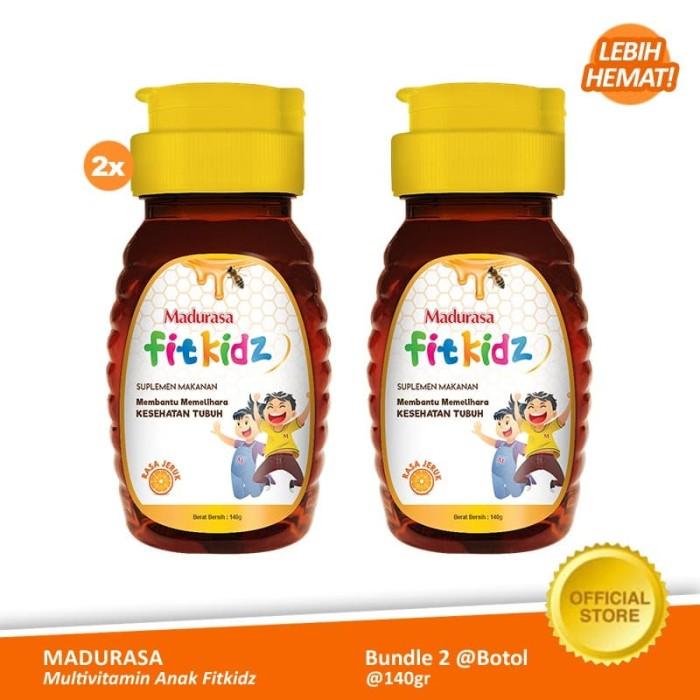 Foto Produk Madurasa Fitkidz Botol 140gr PET Multivitamin Anak Twinpack (2pcs) FS dari Air Mancur Official Shop