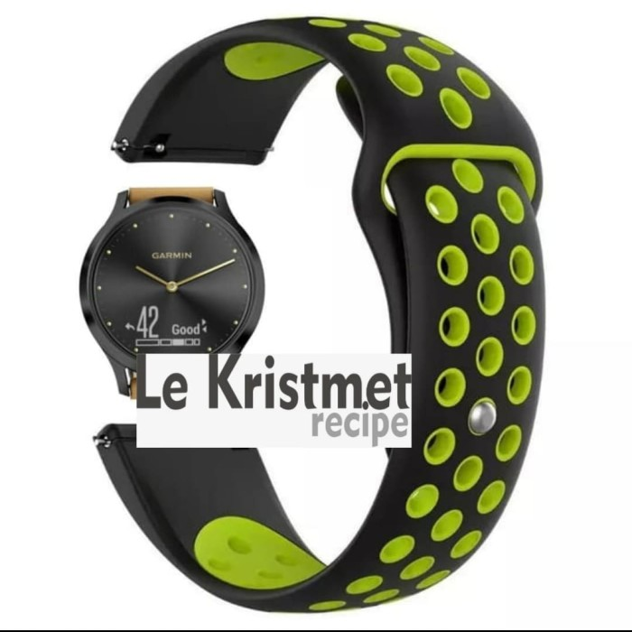 Foto Produk Strap Nike Series Garmin Vivomove HR Watchband Nike Volt Series Tali dari Le Krismet Recipe
