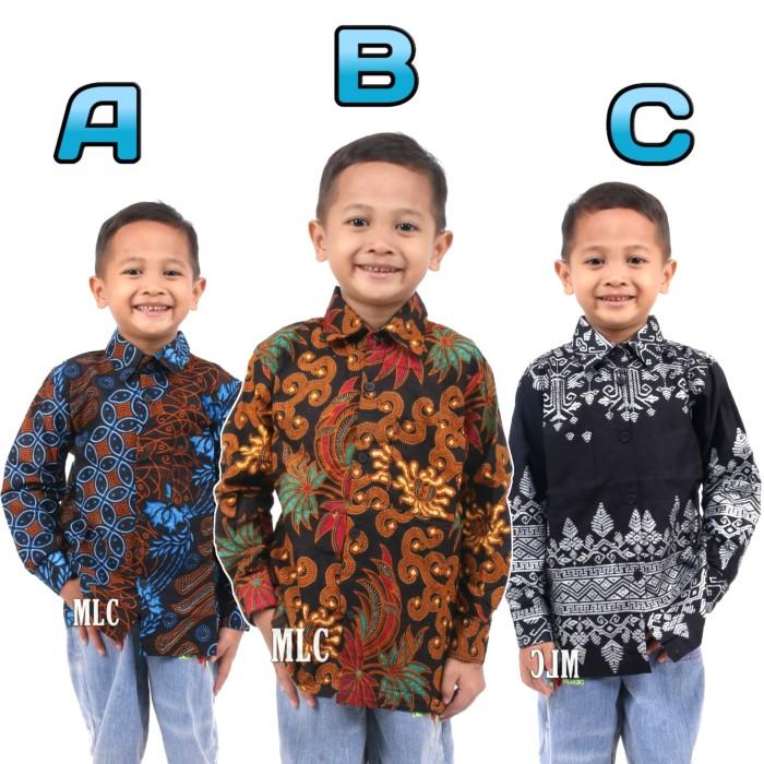 Foto Baju Batik Anak Modern Jual Baju Batik Anak Lengan Panjang Modern Murah Grosir B Motif