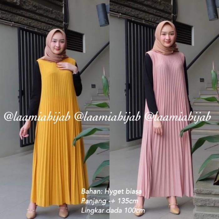 Jual Baju Gamis Syari Plisket Tsleeveless Hyget Biasa Modern Jakarta Timur Shabi Insani Muslimah Tokopedia