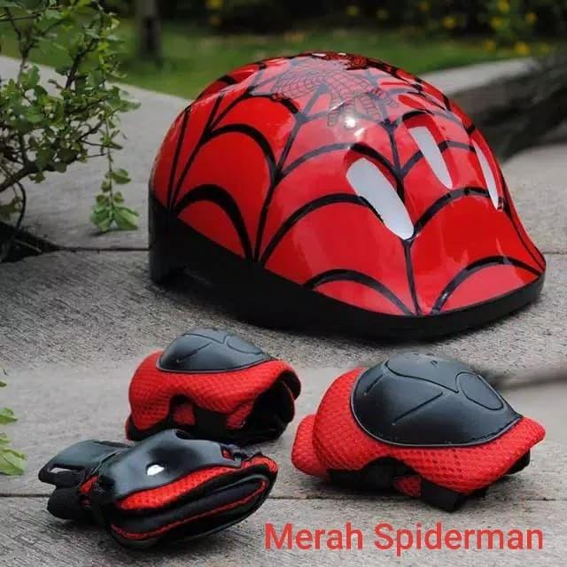 Foto Produk Helm Pelindung Set Anak-Anak utk Sepeda/Skuter - Merah Spiderman dari PremiumShop-88