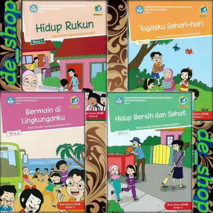 Foto Produk Buku Tematik SD Paket Kelas 2 Tema 1234 dari De__shop