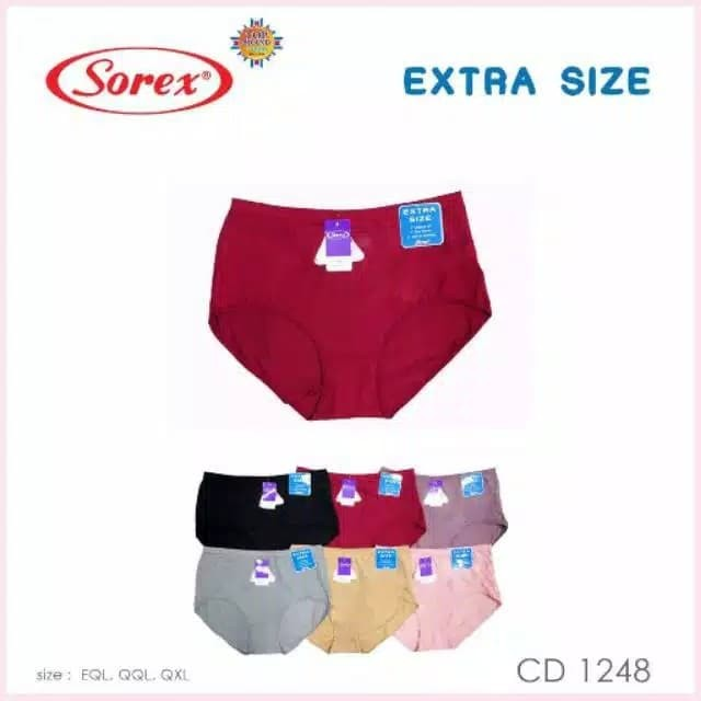 Foto Produk SOREX Cd Wanita KATUN EXTRA SIZE 1248 Size JUMBO - SERI WARNA, EQL dari Dalaman KU