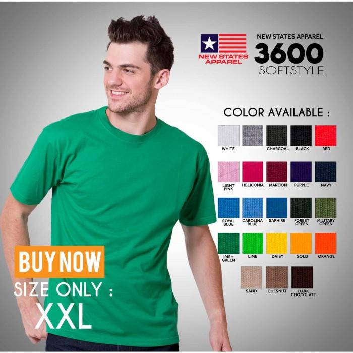 Foto Produk Kaos Polos NSA SOFT (New state apparel) XXL mirip gildan softstyle - Putih, XXL dari TruckerHat