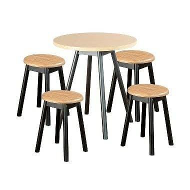 Jual Kursi Cafe Bundar 4 Kursi Meja Bundar Kab Jepara Risky Home Furniture Tokopedia