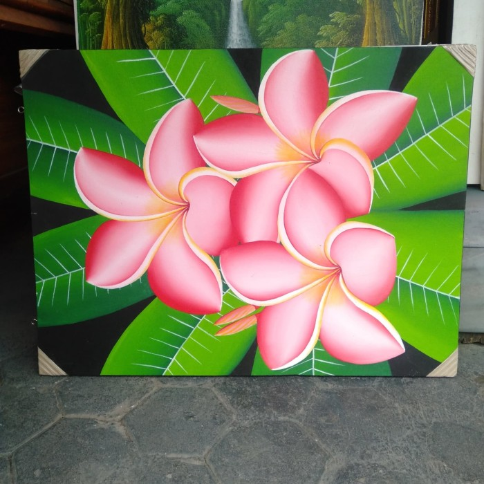 Jual Lukisan Bunga Kamboja Jepang Kota Mataram Raungan Art Gallery Tokopedia