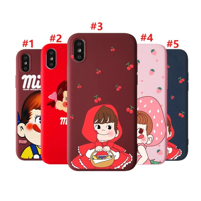 Jual New Japanese Fujiya Milk Girl Cartoon Case Motif Casing Untuk
