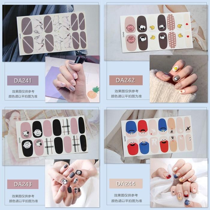 Jual Promo 14pcs Set Nail Sticker Motif Sticker Kuku Stiker Kuku
