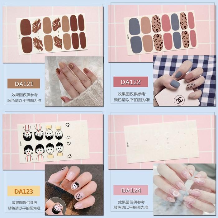 Jual Cantik 14pcs Set Nail Sticker Motif Sticker Kuku Stiker Kuku