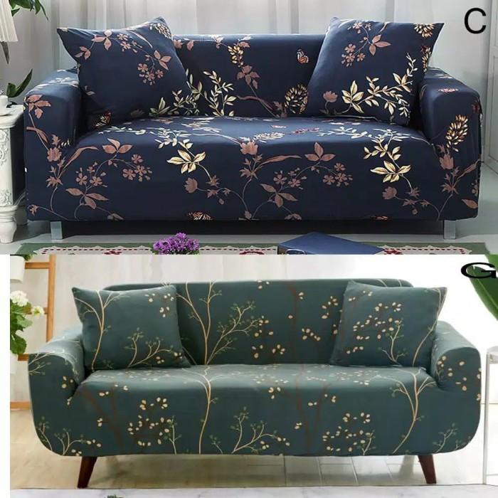 Foto Produk Sarung Pelindung Sofa Model Stretch Elastis Anti-Selip untuk 1 2 3 4 3 - 1 Seaters dari Nada pelangi