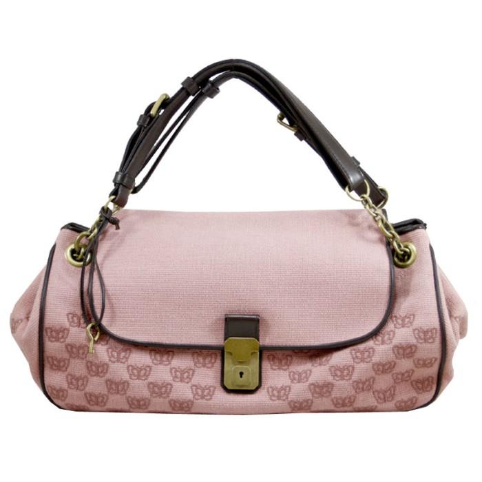 Foto Produk Bottega Veneta Butterfly Canvas Bag in Pink I184 dari SECOND CHANCE