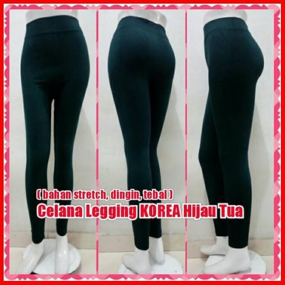 Jual Celana Leging Korea Hijau Tua Legging Import Sport Yoga Jakarta Barat Aliisyaayu Tokopedia