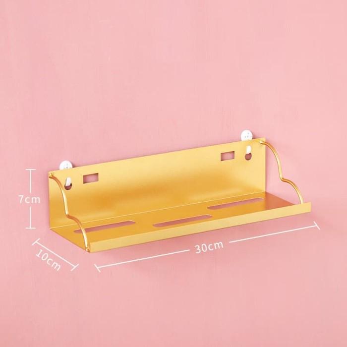 Foto Produk Kepol Emas   rak gantung dinding penyimpanan ambalan besi multifungsi dari Mendekor