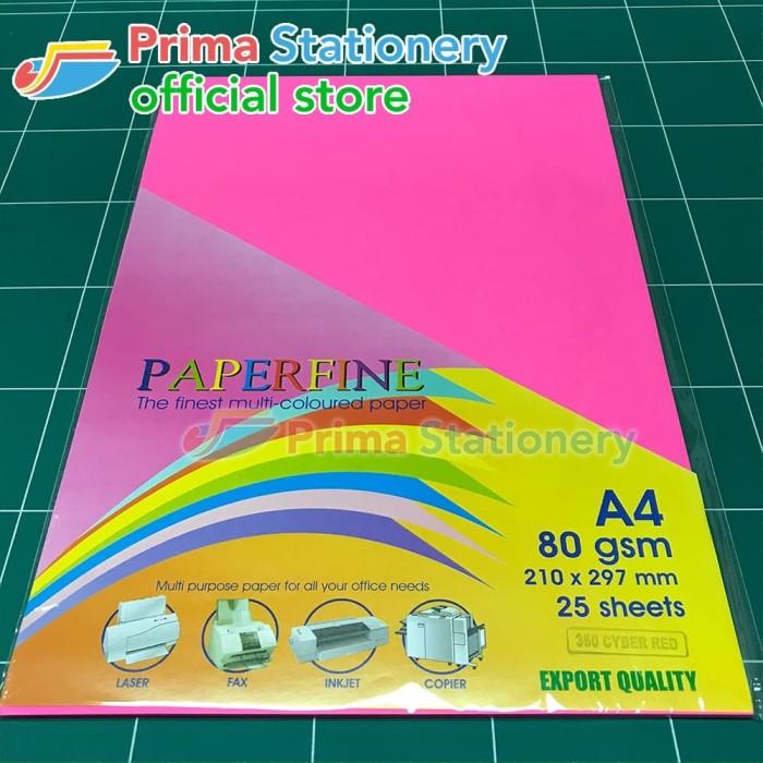 Foto Produk Kertas HVS Warna Paperfine Cyber Red dari Prima Stationery