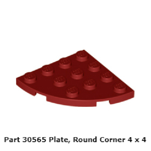 Lego 4 Bright Pink 2x2 round smooth skid plates finish tiles NEW