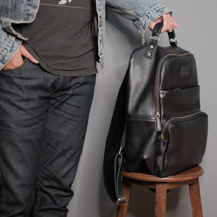 Foto Produk Tas Ransel Kulit Asli - Mahameru Backpack - Lavaches Leather - Cognac dari Lavaches Leather