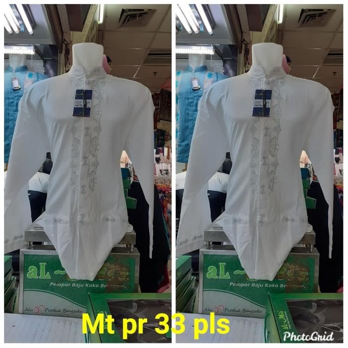 Foto Produk Baju koko alMia Super Premium lengan panjang (al mia Premium) PROMO - Putih, M dari pusat grosir celana pria