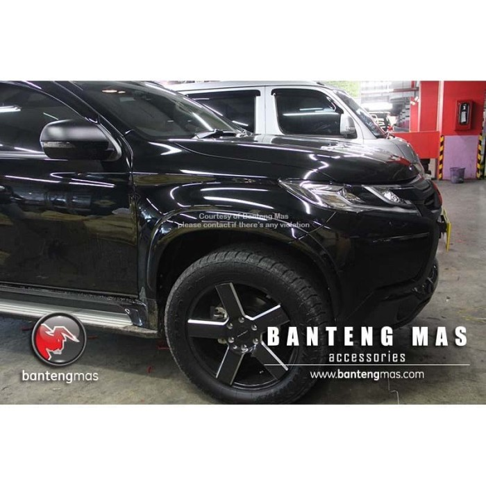 All New Pajero Sport: Jual Over Fender All New Pajero Sport Black Glossy