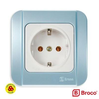 Foto Produk Broco Stop Kontak Biru Galleo G151-54S Blue Arde Socket dari Gudang Listrik